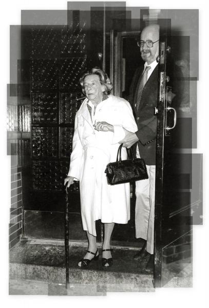 Lillian Hellman leaving Elaines's Restaurant in New York City. 1984 Photo