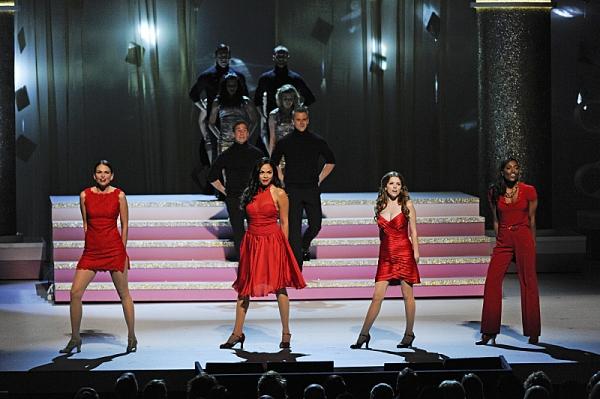 Pictured L-R: Sutton Foster, Karen Olivo, Anna Kendrick, and Patina Miller