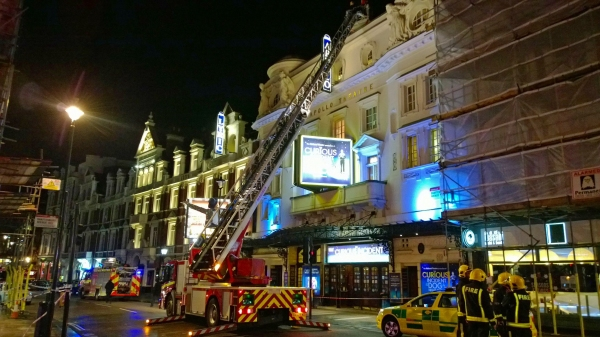 Photo Flash: Emergency Services Respond After Apollo Theatre Ceiling Collapse