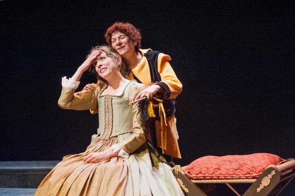 Anne Boleyn (Kathryn Myles) and Old Lady (Bobbie Steinbach) Photo