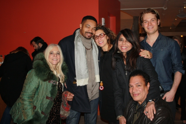 Playwright Kathleen McGhee-Anderson and Friends with Ricardo Khan Photo