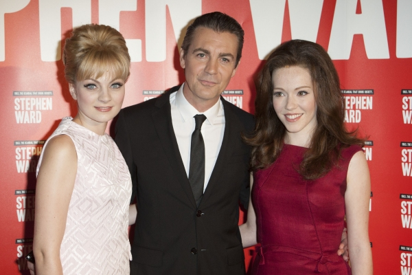 Charlotte Blackledge (Mandy Rice Davies), Alexander Hanson (Stephen Ward) and Charlotte Spencer (Christine Keeler)''Stephen Ward'' Musical Photocall, London,