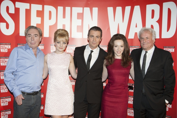Sir Andrew Lloyd Webber (Music), Charlotte Blackledge (Mandy Rice Davies), Alexander Hanson (Stephen Ward), Charlotte Spencer (Christine Keeler) and Richard E