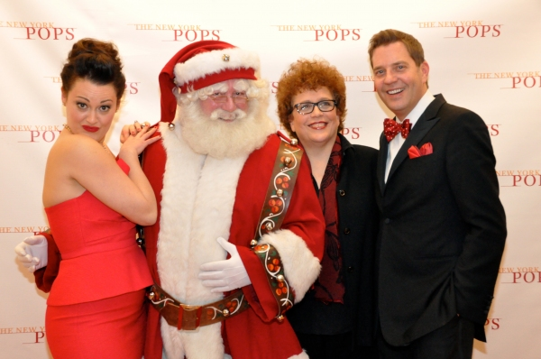 Ashley Brown, Santa Claus, Judith Clurman and Steven Reineke