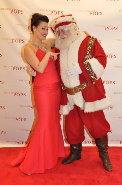 Ashley Brown and Santa Claus