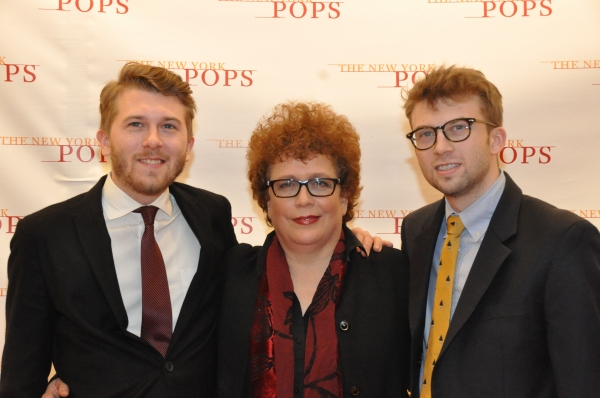 Judith Clurman and the sons of composer Stephen Paulus Photo