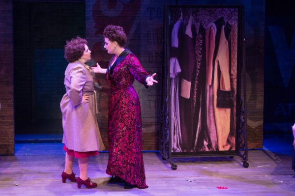 Momma Rose (Sherri L. Edelen, left) adjusts to the rise of Gypsy Rose Lee, aka her daughter Louise (Maria Rizzo).