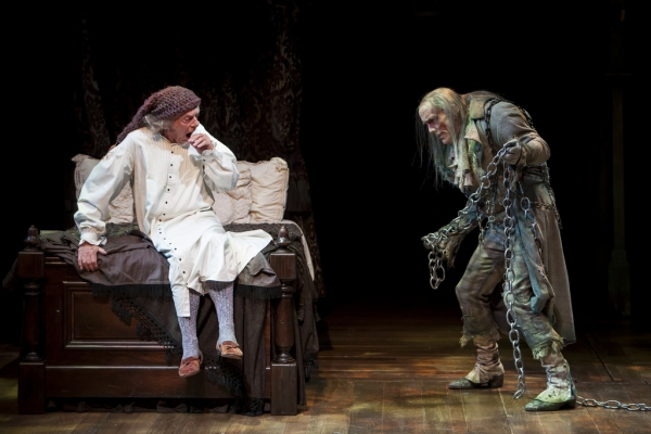 Philip Pleasant as Ebeneezer Scrooge and John Hutton as Jacob Marley