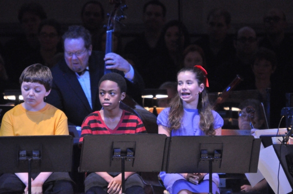 Thomas Vaethroeder, Kaitlyn Pholy and Derek Johnson from TADA! Youth Theater Photo