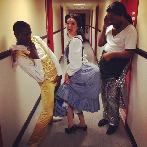 Photo Flash: Saturday Intermission Pics - Dec. 21 - Part 2 - Cast of Broadway's BEAUTIFUL Sends Well Wishes to Valisia LeKae; Plus CINDERELLA & More!