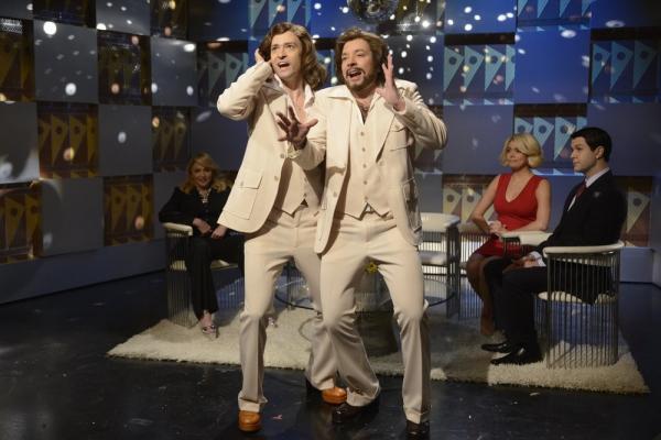 SATURDAY NIGHT LIVE -- Jimmy Fallon/Justin Timberlake Episode 1651 -- Pictured: (l-r) Justin Timberlake, Jimmy Fallon -- (Photo by: Dana Edelson/NBC)