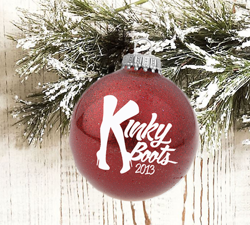 Deck The Halls With KINKY BOOTS Christmas Ornaments
