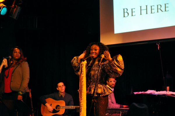 Stephanie Fisher, David Rosenthal,  special guest Jason Webb (piano), Saycon Sengbloh all performing the new single ''Be Here''