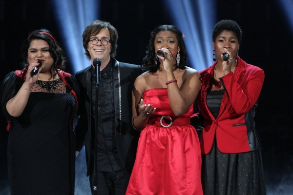 THE SING OFF -- Episode 407 -- Pictured: (l-r) Vocal Rush, Ben Folds -- (Photo by: Tyler Golden/NBC)