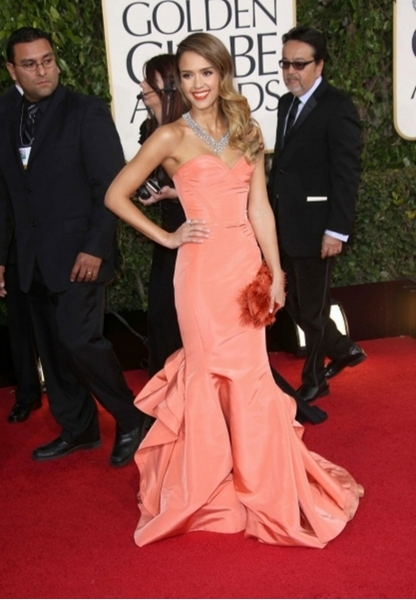 Jessica Alba at the 70th Annual Golden Globes (Photo by Rex/Rex USA)