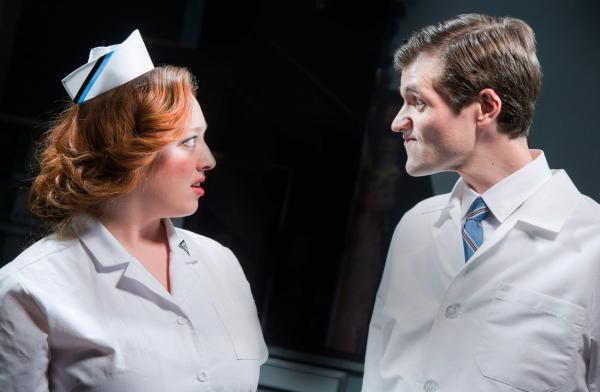 Nurse Kelly (Amy McQuin) and Dr. Lyman (Chris Cotterman)