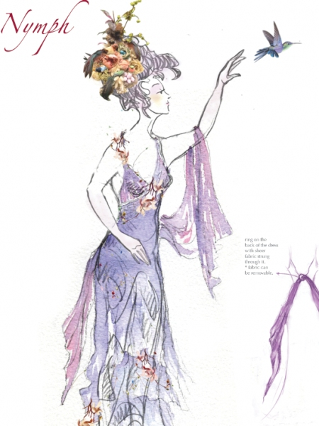 Photo Flash: Sneak Peek at Costume Designs for Gotham Chamber Opera's LA DESCENTE D'ORPHEE AUX ENFERS