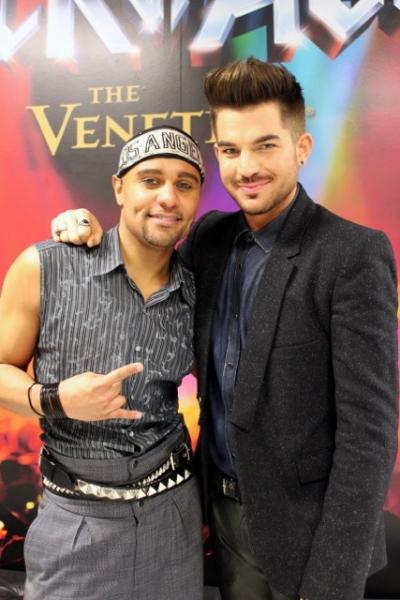Photo Flash: Adam Lambert Attends ROCK OF AGES in Las Vegas