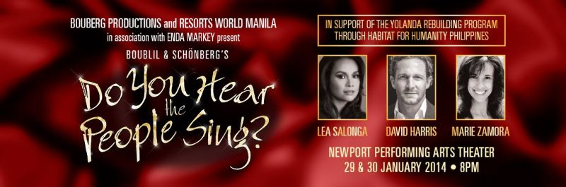 A Heart Full of Cause - Lea Salonga to Headline a Special Do You Hear The People Sing? Benefit Concert in Manila