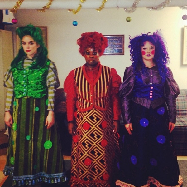 Photo Flash: Saturday Intermission Pics - Dec. 28 - Part 2 - CINDERELLA's Laura Osnes Brings FROZEN to Broadway; Plus WHITE CHRISTMAS & 'PHANTOM' Tours!
