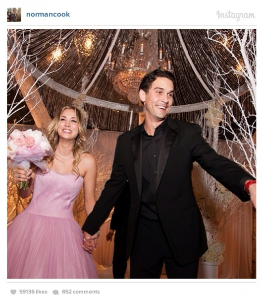 Kaley Cuoco married Ryan Sweeting on New Years Eve and shared photos on their Instagram accounts