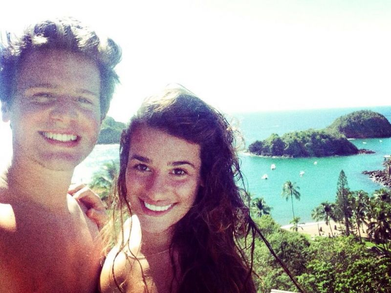 Lea Michele & Jonathan Groff's Super Sexy Mexican Vacation Photo Album