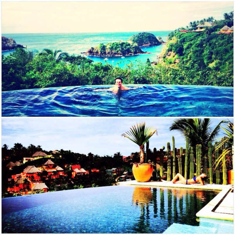 Lea Michele & Jonathan Groff's Super Sexy Mexican Vacation Photo Album