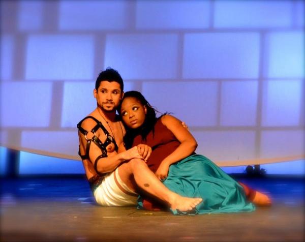 Alejandro Roldan as Radames and Olivia James as Aida