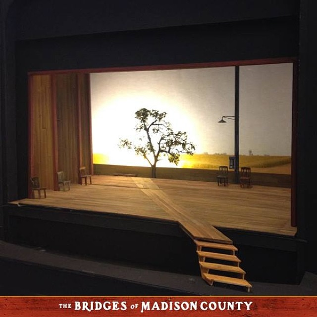 Sneak Peek At Costume Sketches & Set Model For THE BRIDGES OF MADISON COUNTY