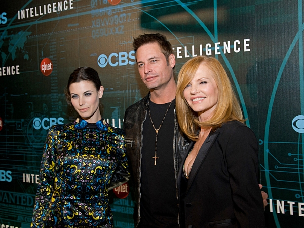 (l-r) Series stars: Meghan Ory, Josh Holloway and Marg Helgenberger attend CNET''s premiere Party for the new CBS Drama series, Intelligence January 7, 2014 in Las Vegas. Photo: Chris Poore/CBS Ã�'ï�¿½Ã'ï�¿½Ã�'ï�¿½Ã'©2014 CBS Broadcasting