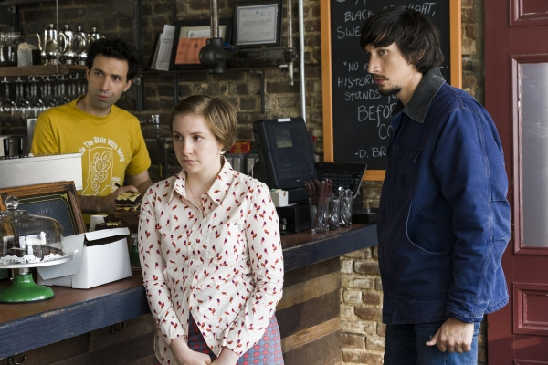 Alex Karpovsky, Lena Dunham, Adam Driver; Photo by HBO/Mark Schaffer