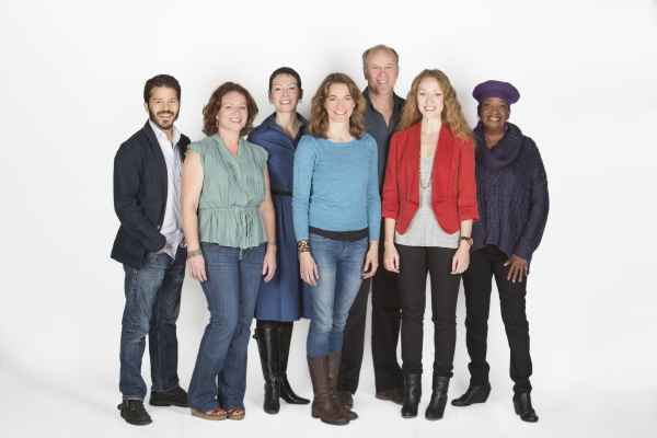 Director Gaye Taylor Upchurch (center) with the cast of Bethany: (from left) Carlo Alban, DeAnna Driscoll, Amanda Naughton, James Shanklin, Jennifer Ferrin and Sylvia M''Lafi Thompson
