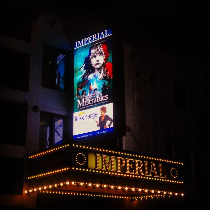 LES MISERABLES Unveils New LED Marquee At Imperial Theatre On Broadway