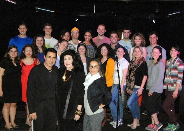 Creator/co-executive producer, Michael Sterling, Barbara Van Orden and Choreographer, Jackie Evens, with the 2014 LAs Next Great Stage Star�® Contestants