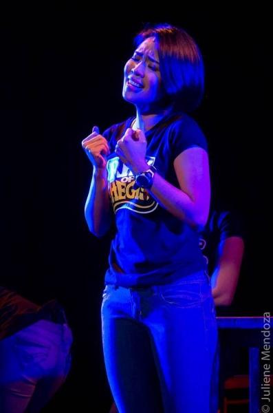 Aicelle Santos sings BASANG BASA SA ULAN.