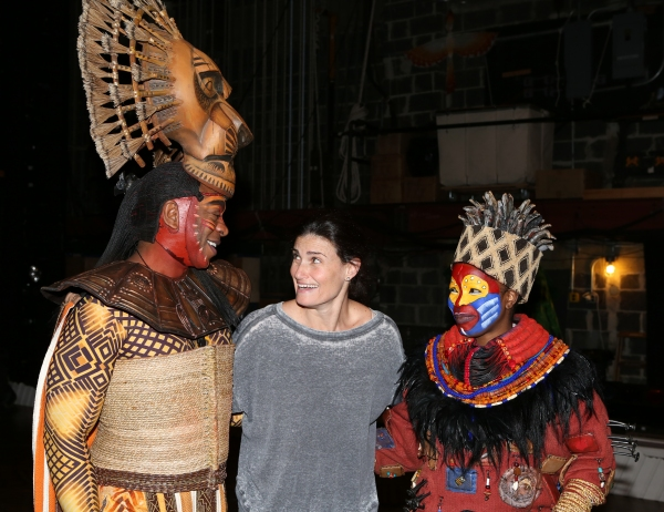Photo Coverage: Broadway-Bound Idina Menzel Visits THE LION KING!