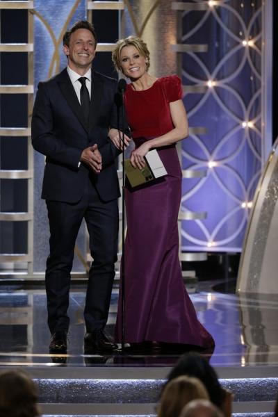 Seth Meyers and Julie Bowen