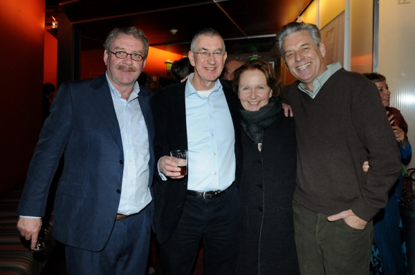 Director of the Gate Theatre, Dublin, Michael Colgan, cast member Barry McGovern, actress Kate Burton and Center Theatre Group Artistic Director Michael Ritchie