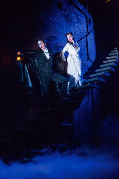 COOPER GRODIN as The Phantom and JULIA UDINE as Christine