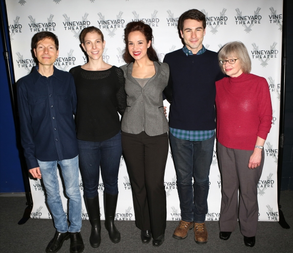 Victor Lodato (book writer/lyricist ), Carolyn Cantor (director), Alexandra Silber, Ben Moss and Polly Pen (composer)