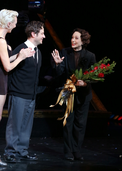 Amra-Faye Wright, Christopher Fitzgerald and Bebe Neuwirth