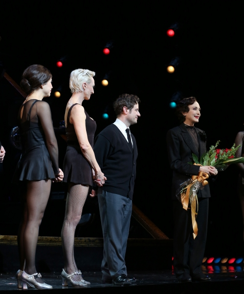Bianca Marroquin, Amra-Faye Wright, Christopher Fitzgerald and Bebe Neuwirth during the Curtain Call as Bebe Neuwirth