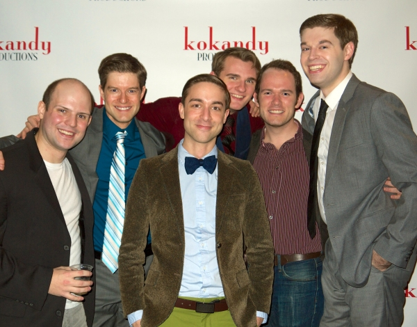 The gentlemen of the SWEET SMELL OF SUCCESS ensemble, (L to R) Brennan Roach, Shaun Baer, Zach Drane, Jordan Grzybowski, Bobby Arnold, and Mike Danovich