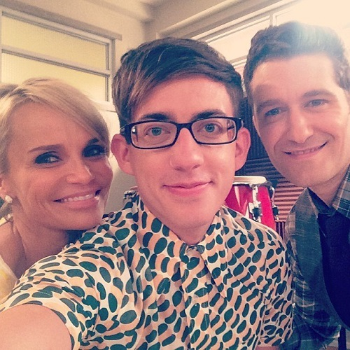 First Look At Kristin Chenoweth & Matthew Morrison On Set Of GLEE's 100th Episode