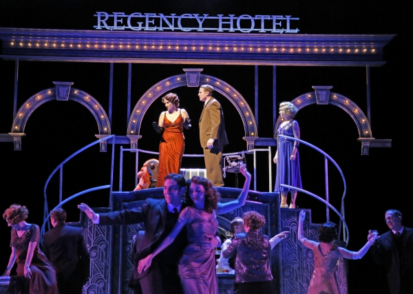 Catherine Lord is Broadway legend Dorothy Brock, James Rank is her secret beau Pat Denning, and Laura Savage plays newcomer Peggy Sawyer