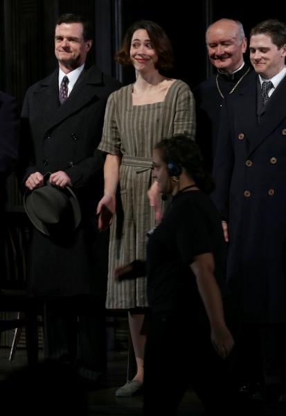 Michael Cumpsty, Edward James Hyland, Rebecca Hall, Ryan Dinning and Set Stagehands