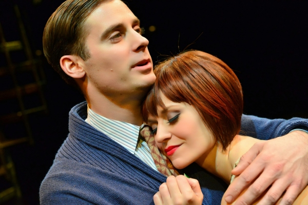 Patrick Sarb as Clifford Bradshaw and Megan Sikora as Sally Bowles