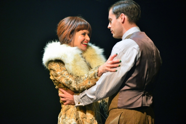 Megan Sikora as Sally Bowles and Patrick Sarb as Clifford Bradshaw
