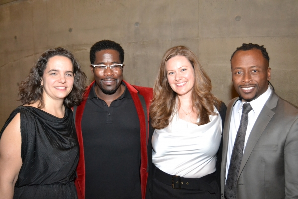 Tectonic Theater Project Executive Director Erika S. Floreska, playwright & performer Daniel Beaty, Tectonic Theater Project Associate Director Tiffany Redmon and Music Director Kenny J. Seymour