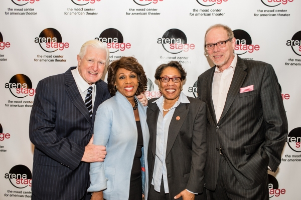 Congressman Jim Moran, Congresswoman Maxine Waters, Congresswoman Marcia L. Fudge and Arena Stage Executive Producer Edgar Dobie